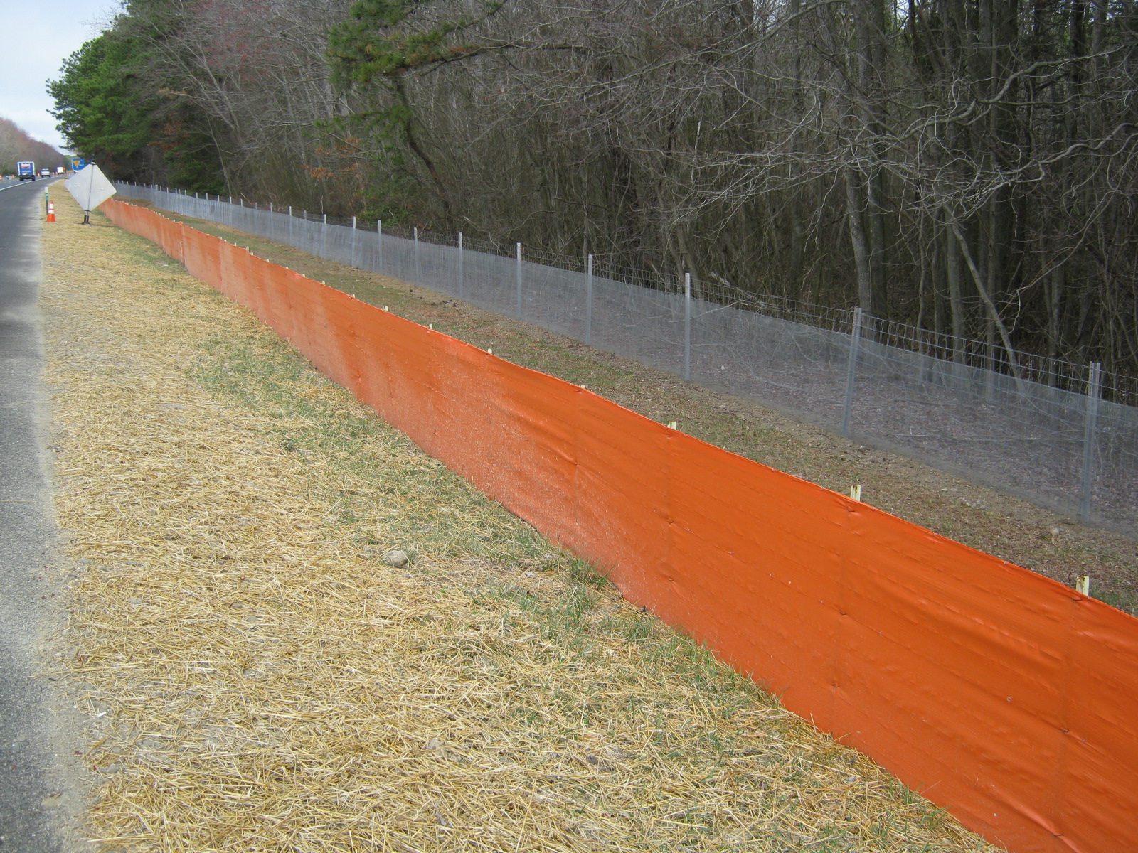 Atlantic City Expressway Orange Silt Fence Galvanized